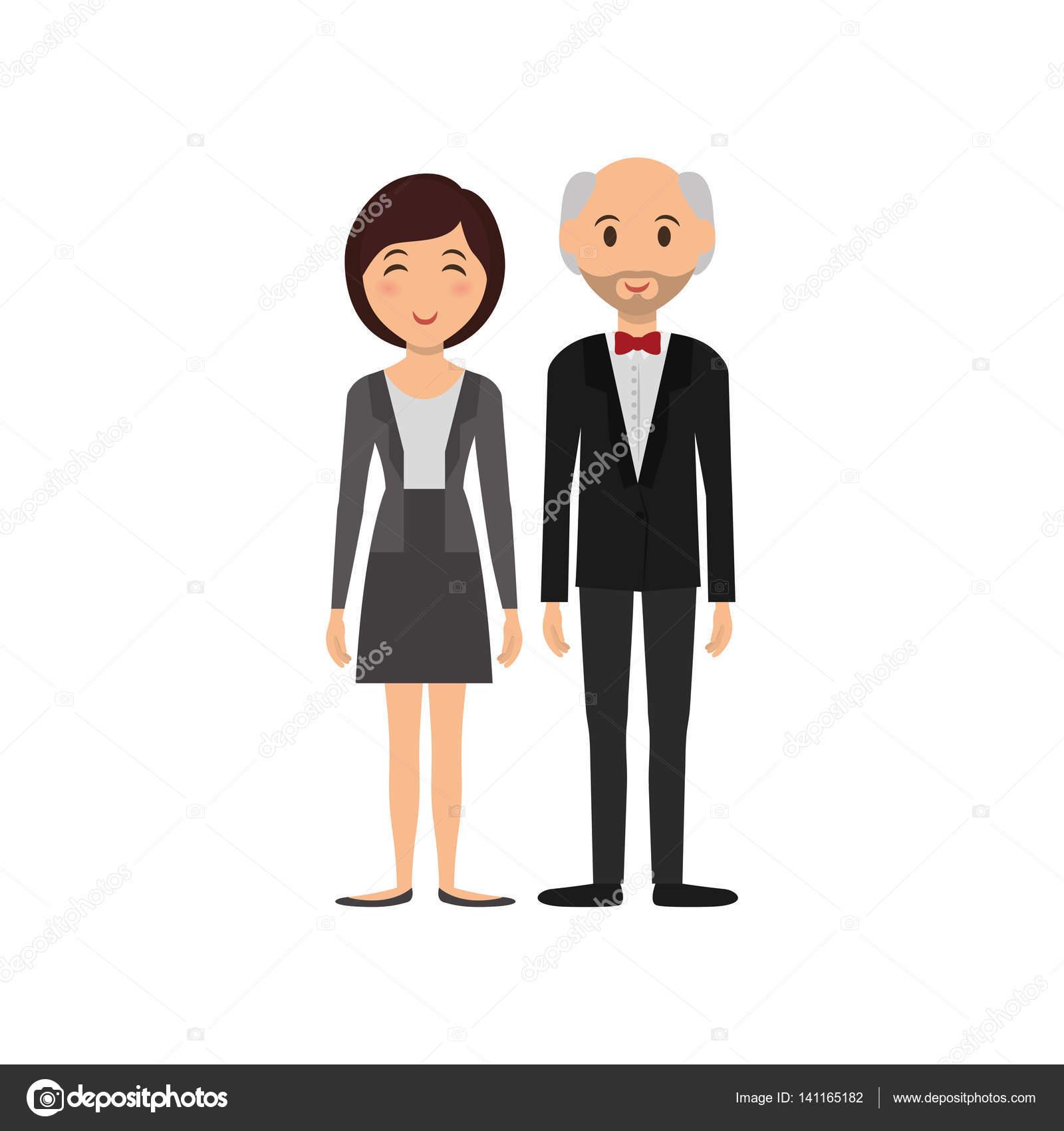 Couple mignon dessin animé icône vector illustration graphisme vecteur par djv