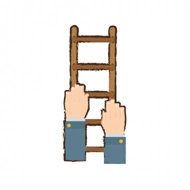 Stairs in the hands related icon