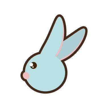 Easter rabbit icon image design