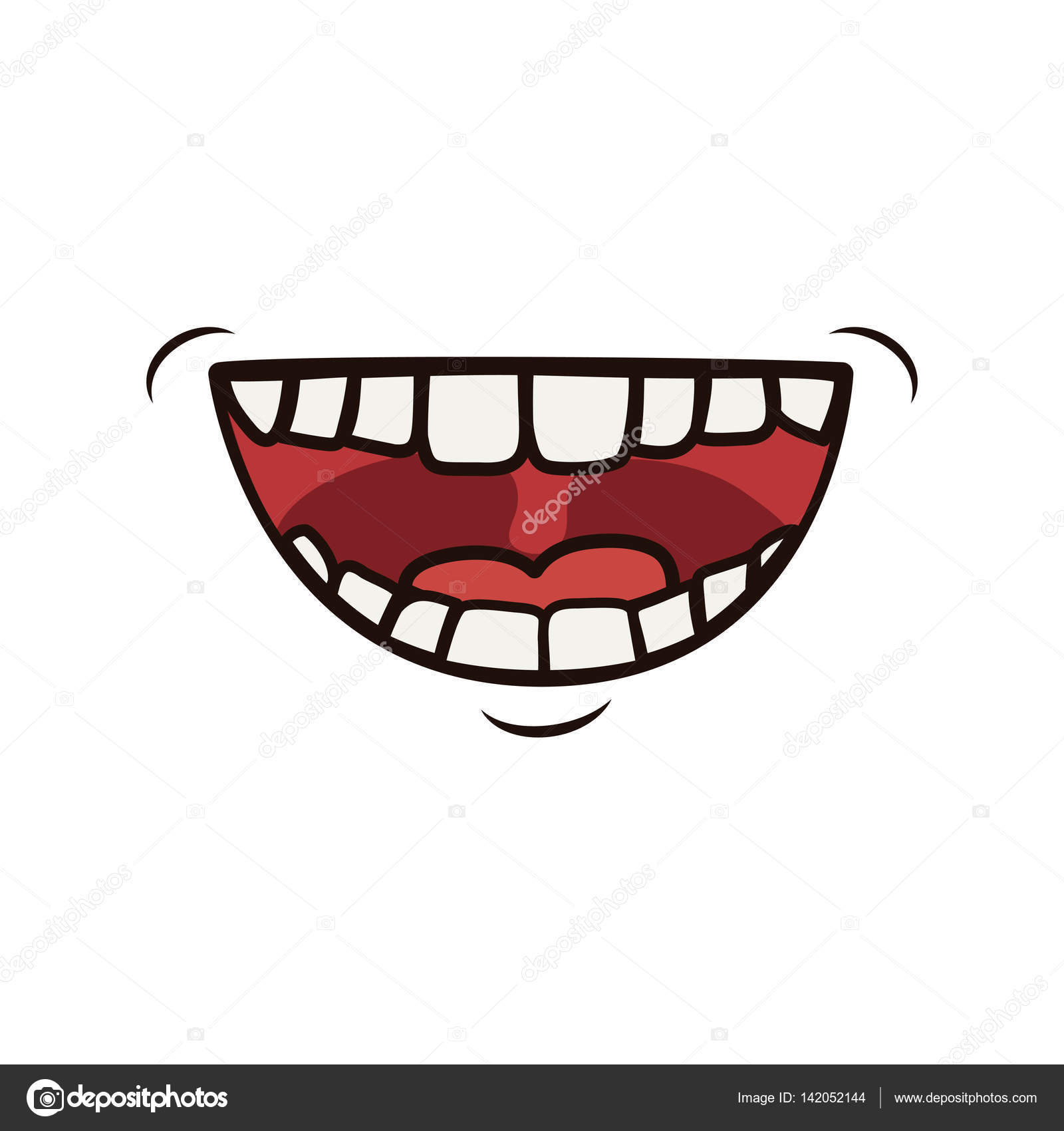 Dessin anim qui rit de bouche image vectorielle djv - Bouche en dessin ...