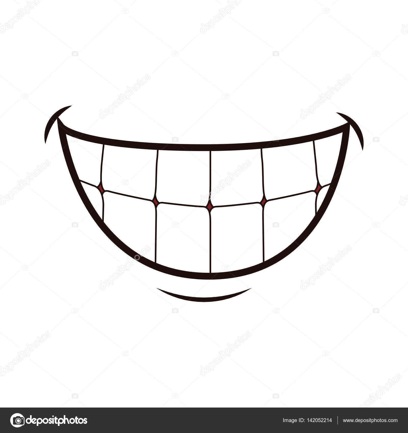 Mund lachen cartoon stockvektor djv 142052214 - Bouche en dessin ...