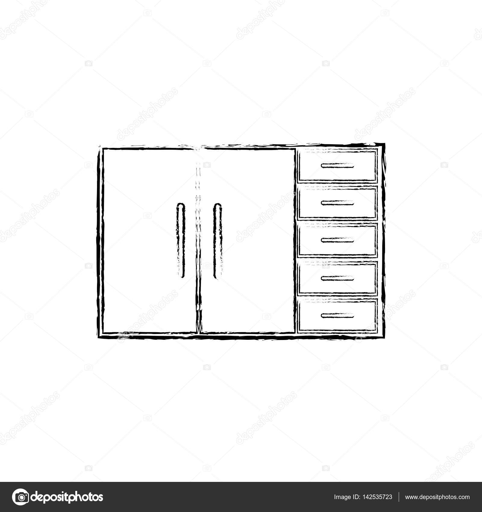 Kitchen Cabinet Design Stock Vector C Djv 142535723
