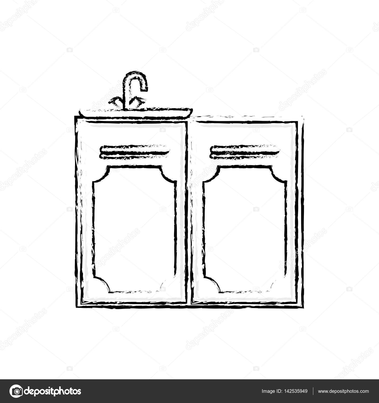 Küchenschrank design — Stockvektor © djv #142535949