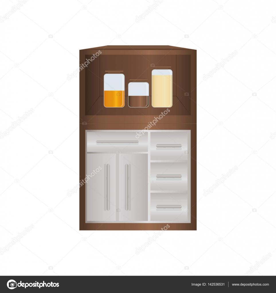 Küchenschrank design — Stockvektor © djv #142536531