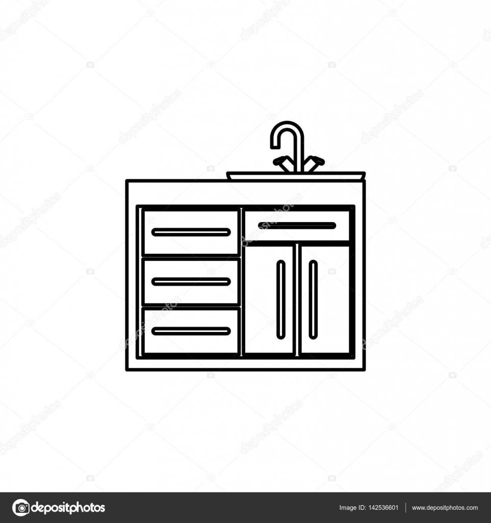 Küchenschrank design — Stockvektor © djv #142536601