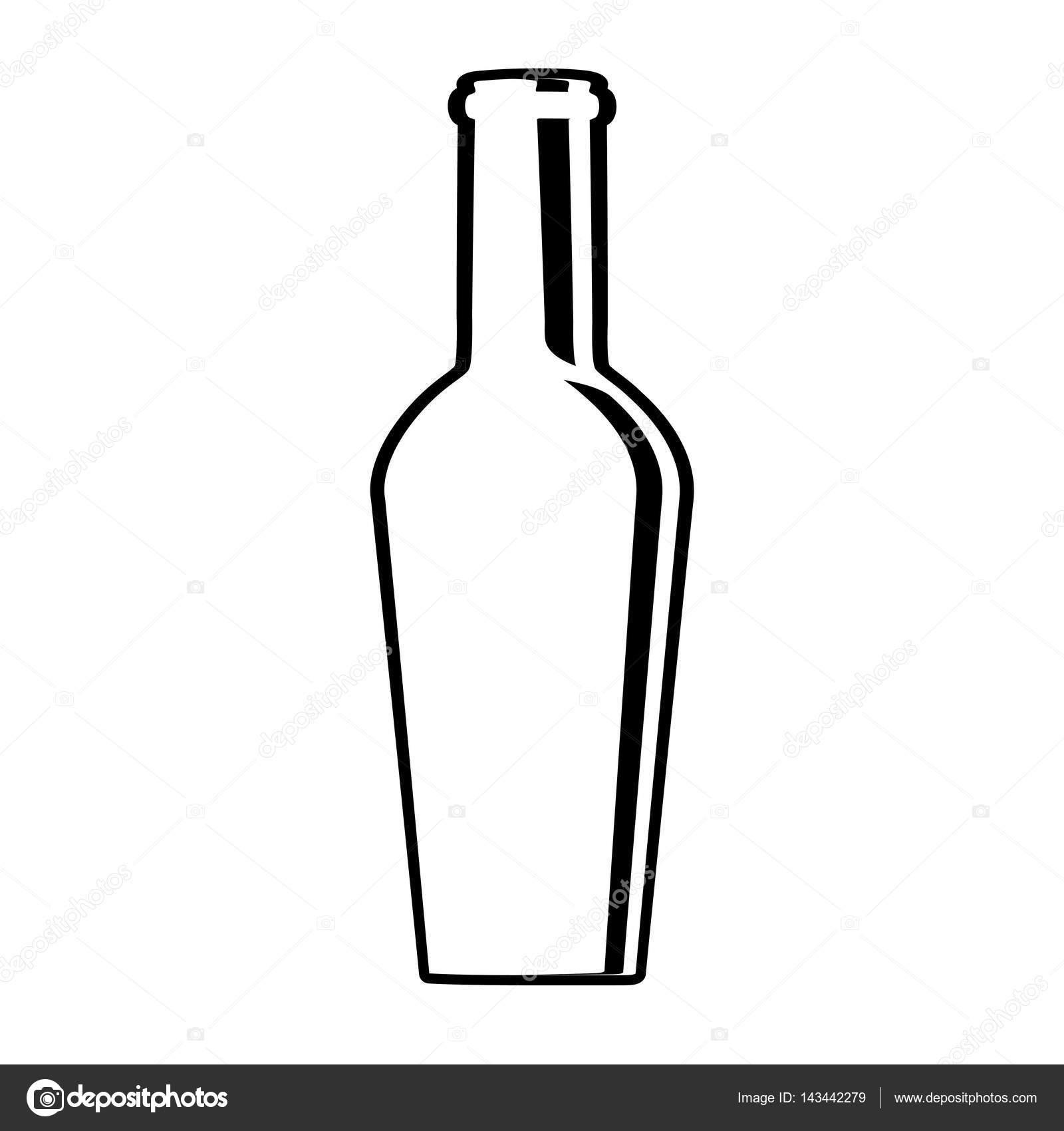 verre design de la bouteille de vin — image vectorielle djv © #143442279