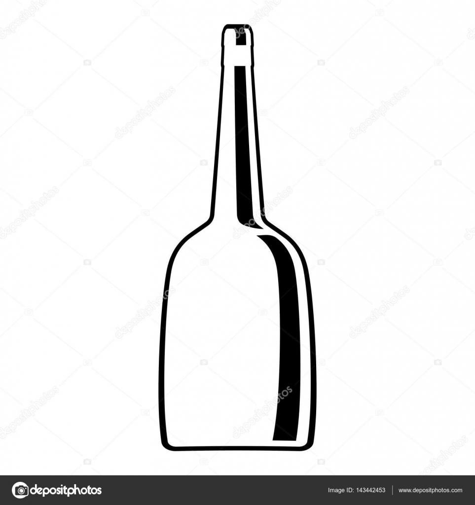 design en ligne verre bouteille vin — image vectorielle djv © #143442453