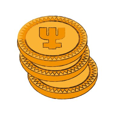 primecoin cryptocurrency stack icon