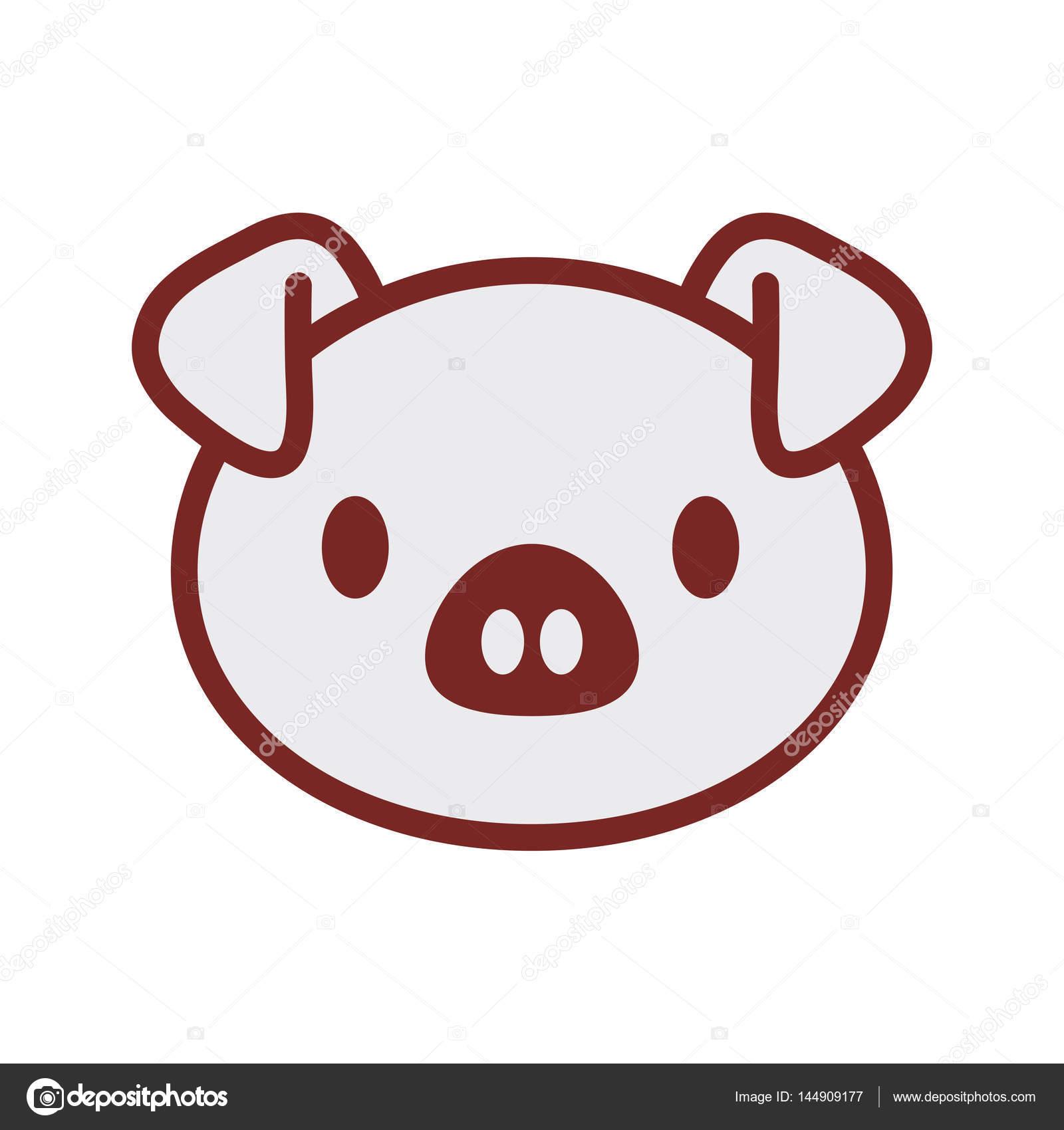 Image de visage cochon mignon image vectorielle djv 144909177 - Image de cochon mignon ...
