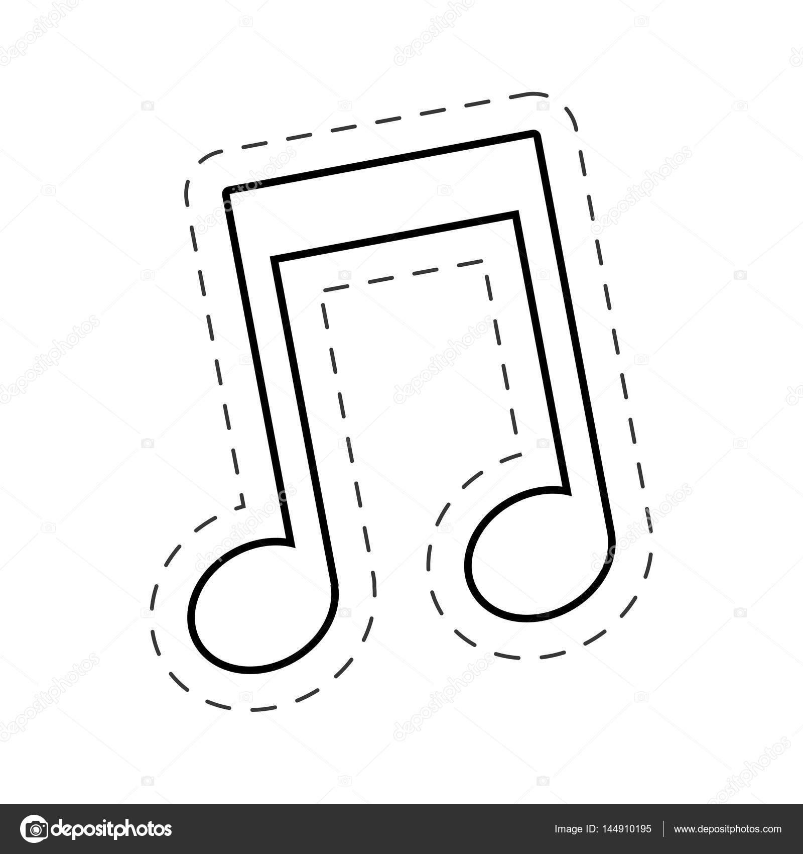Muzyka Notatka Wytnij Wiersz Grafika Wektorowa Djv