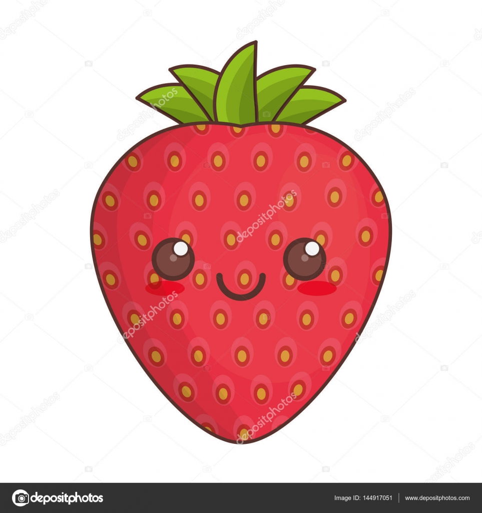 kawaii red strawberry fruit scented squishy charm by iBloom, Food ...