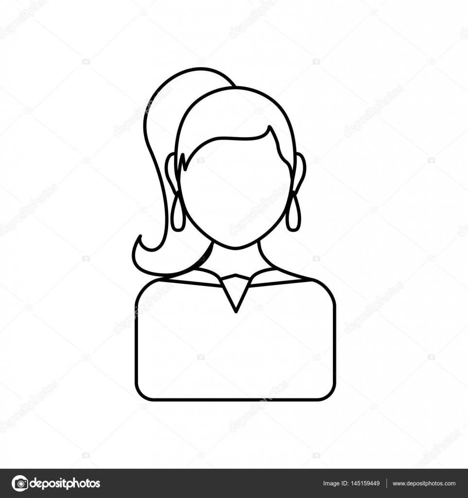 Profil Sans Visage Femmes Image Vectorielle Djv 145159449