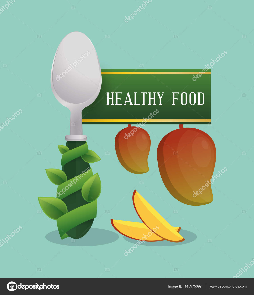 Plakat Dieta Zdrowe Jedzenie Owoce Grafika Wektorowa Djv 145975097