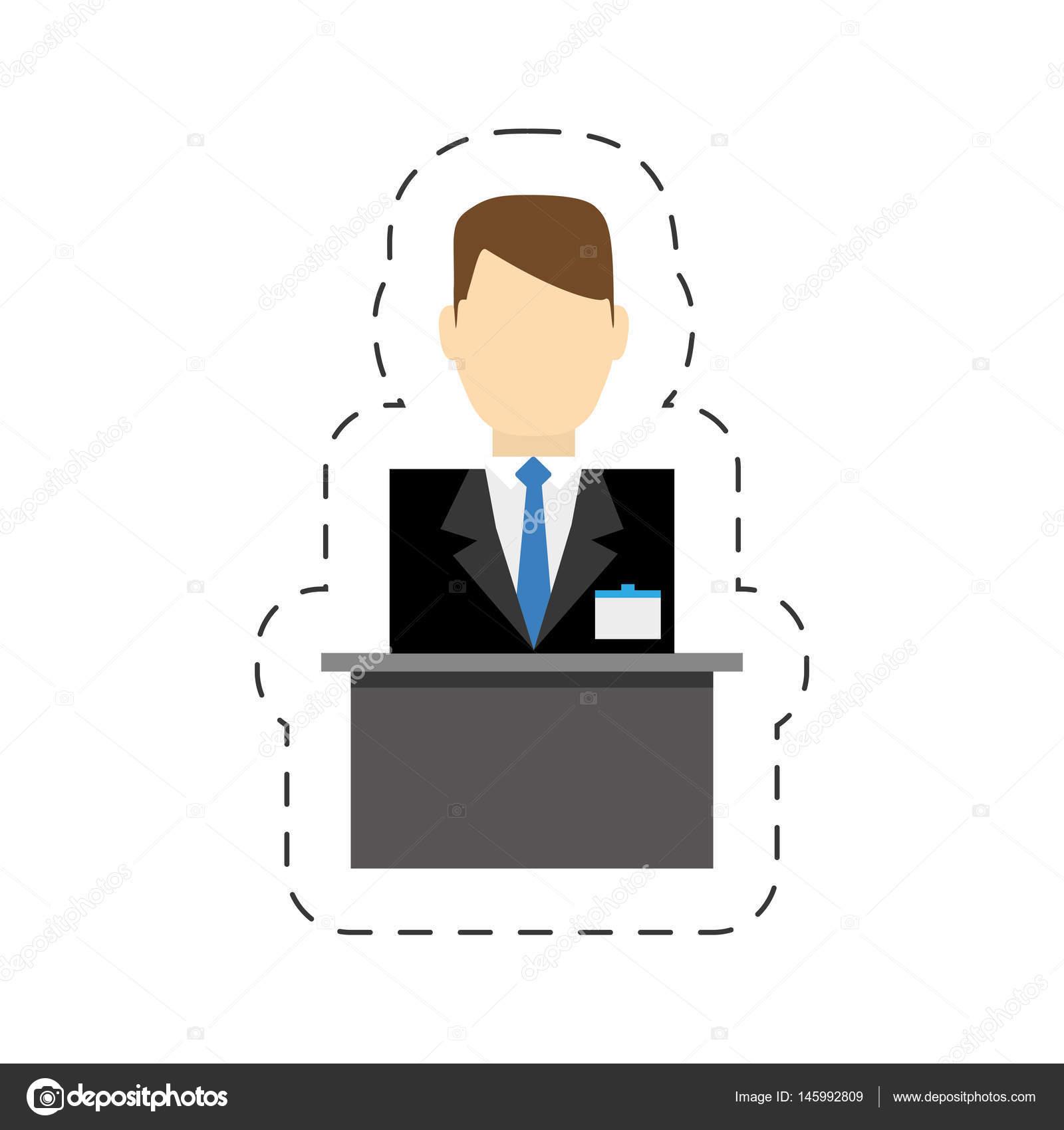 Hotel-Rezeption-Service-Mitarbeiter — Stockvektor © djv #145992809