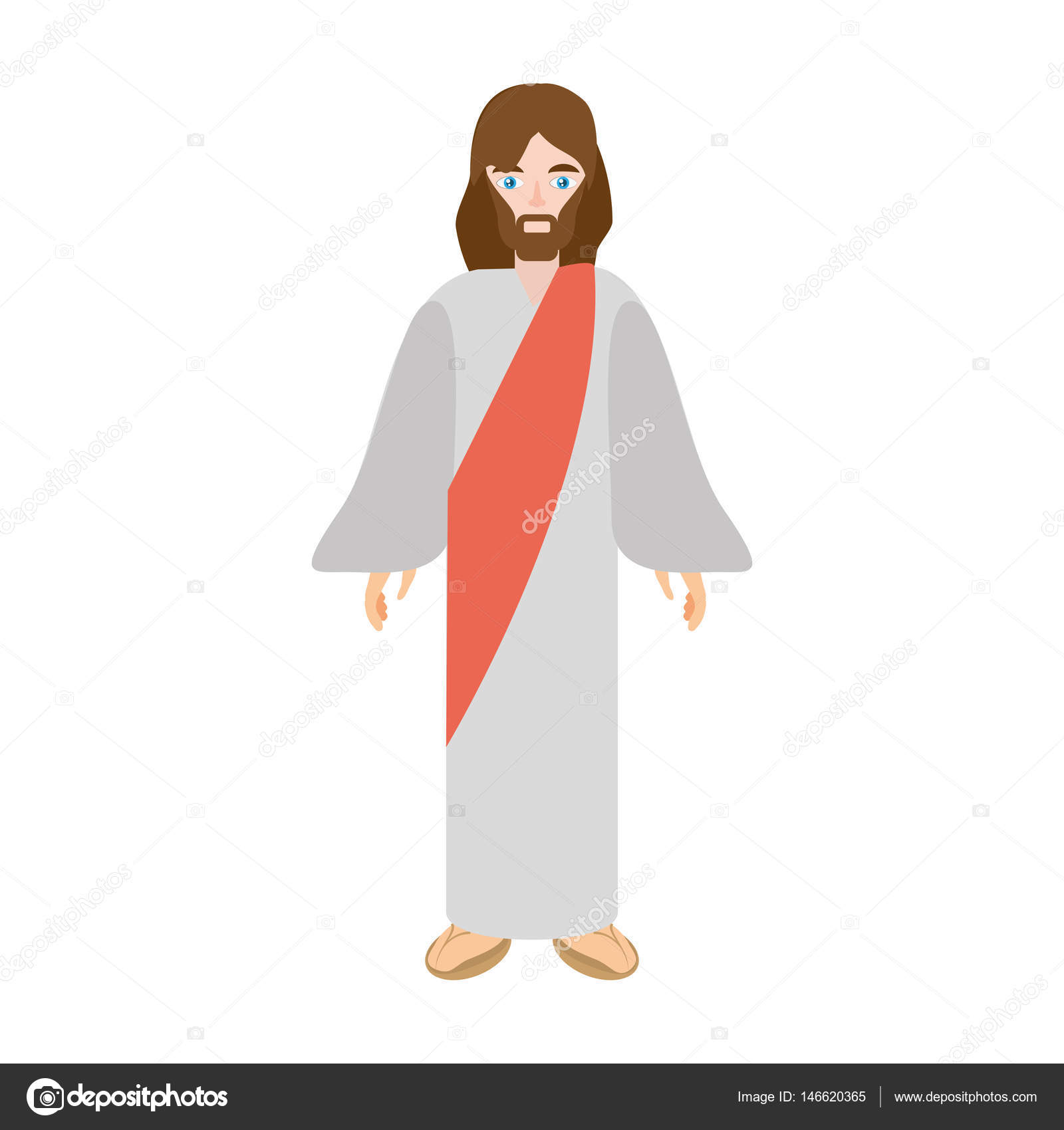 Gesù cristo immagine di cristianesimo u2014 vettoriali stock © djv