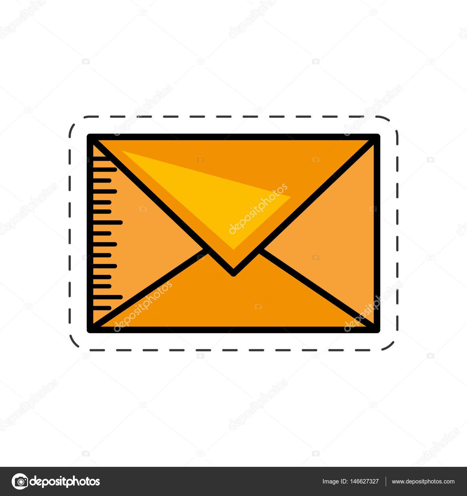 Dessin D Enveloppe image d'enveloppe dessin animé message mail — image vectorielle djv