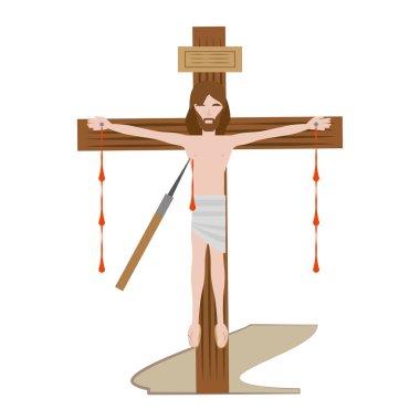 jesus christ dies cross - via crucis