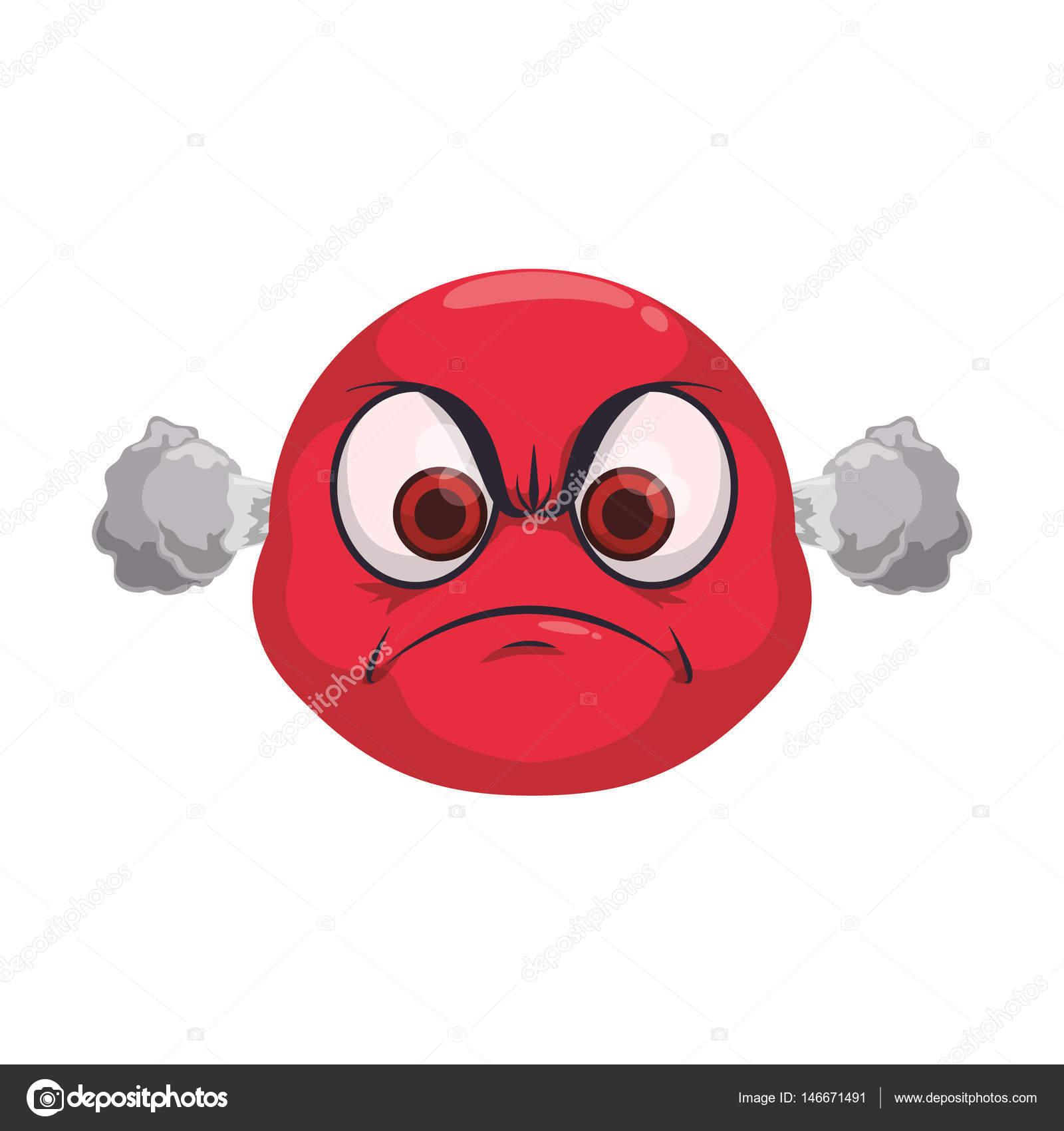 Angry Sun Cartoon Mascot Character Vector Image