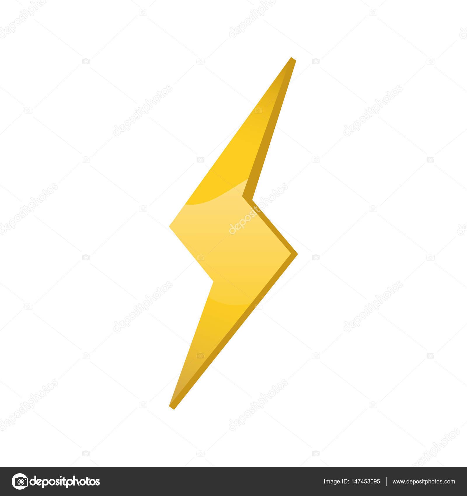 Símbolo de energía de rayo — Archivo Imágenes Vectoriales ...