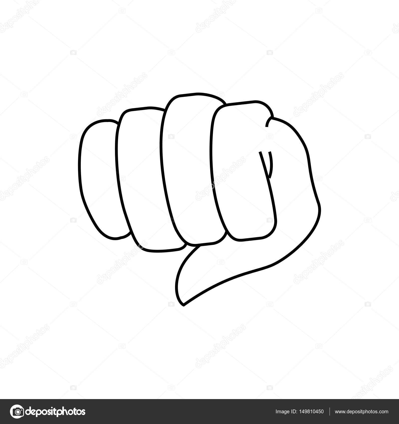 拳の手の形 ストックベクター Djv 149810450
