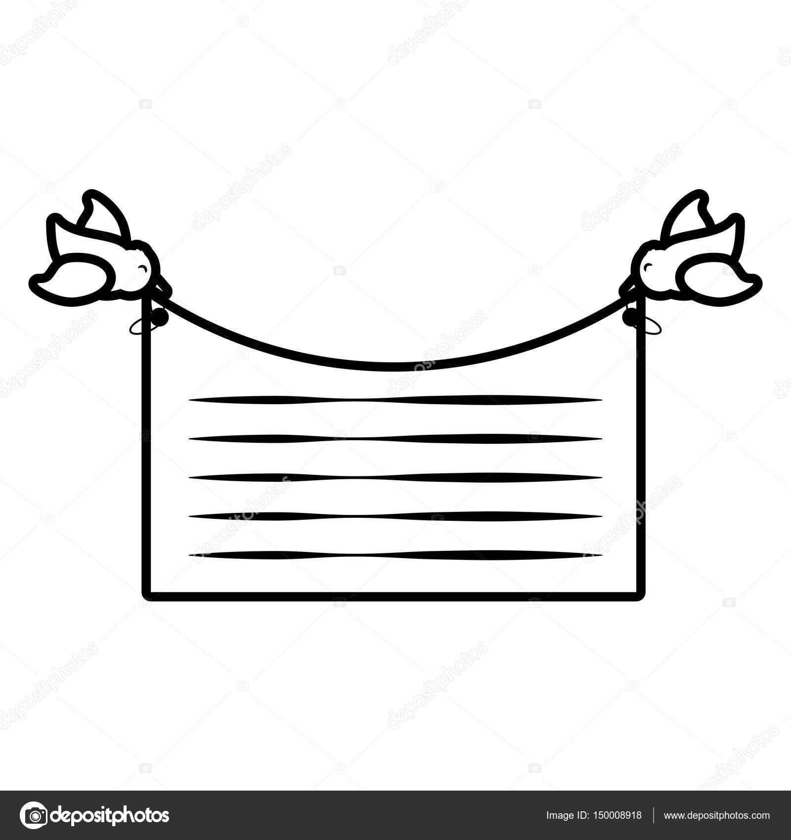 card bird flying invitation outline stock vector djv 150008918