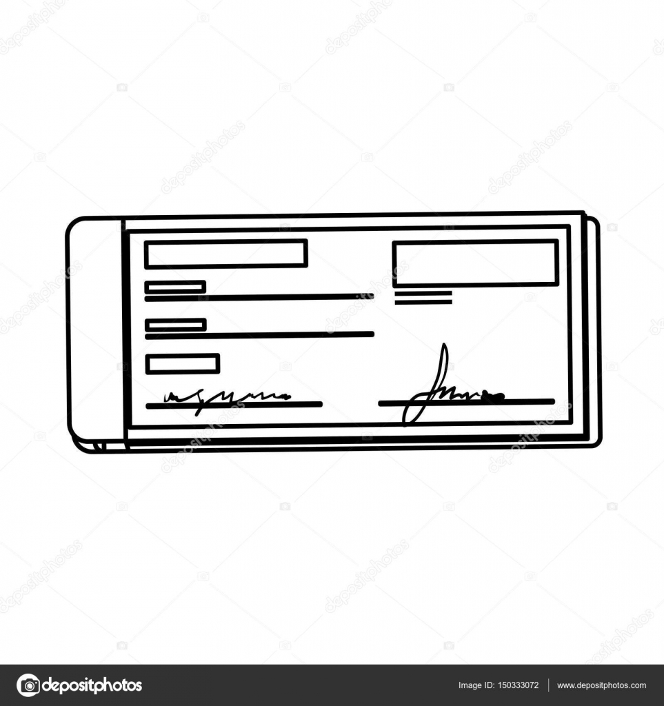 bank check transaction stock vector djv 150333072
