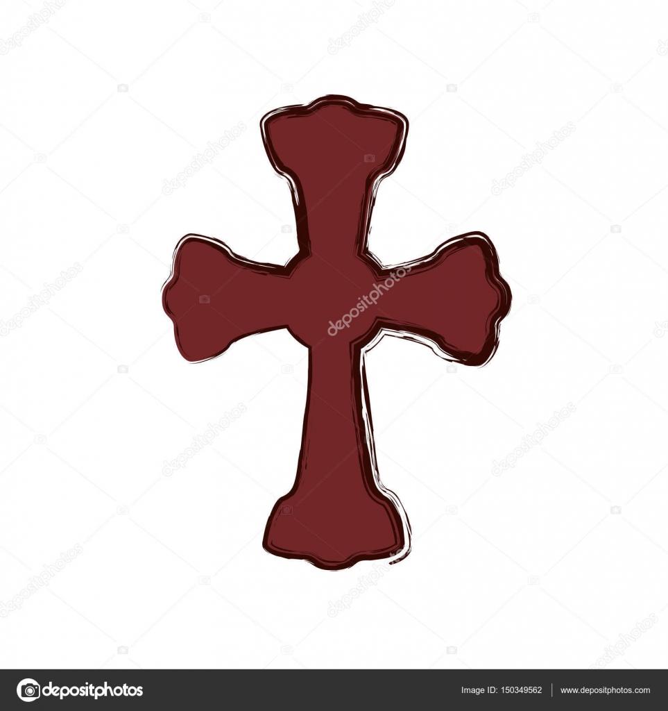 Christianity cross symbol stock vector djv 150349562 christianity cross symbol icon vector illustration graphic design vector by djv biocorpaavc Gallery