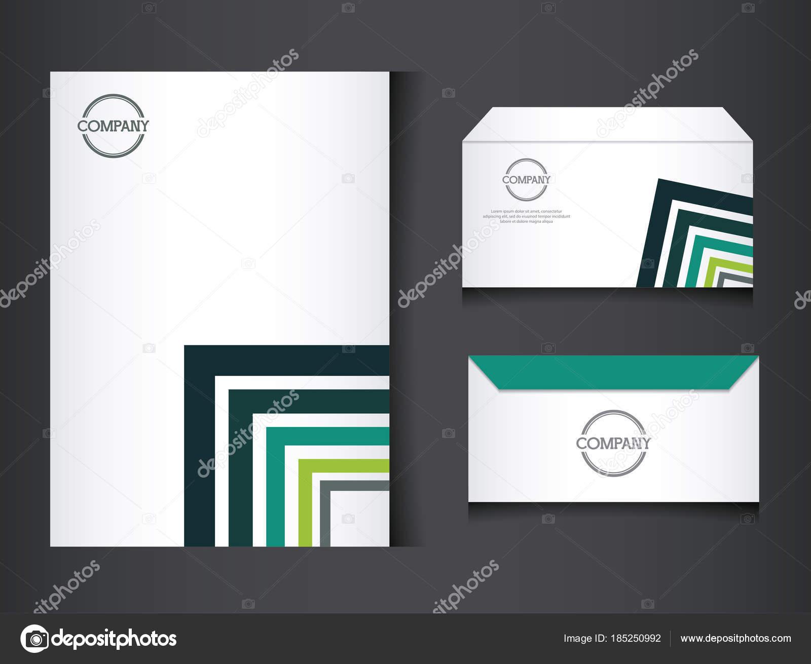 fe65368b122 Identité d entreprise la société conception vector illustration design  graphique-branding — Vecteur par ...