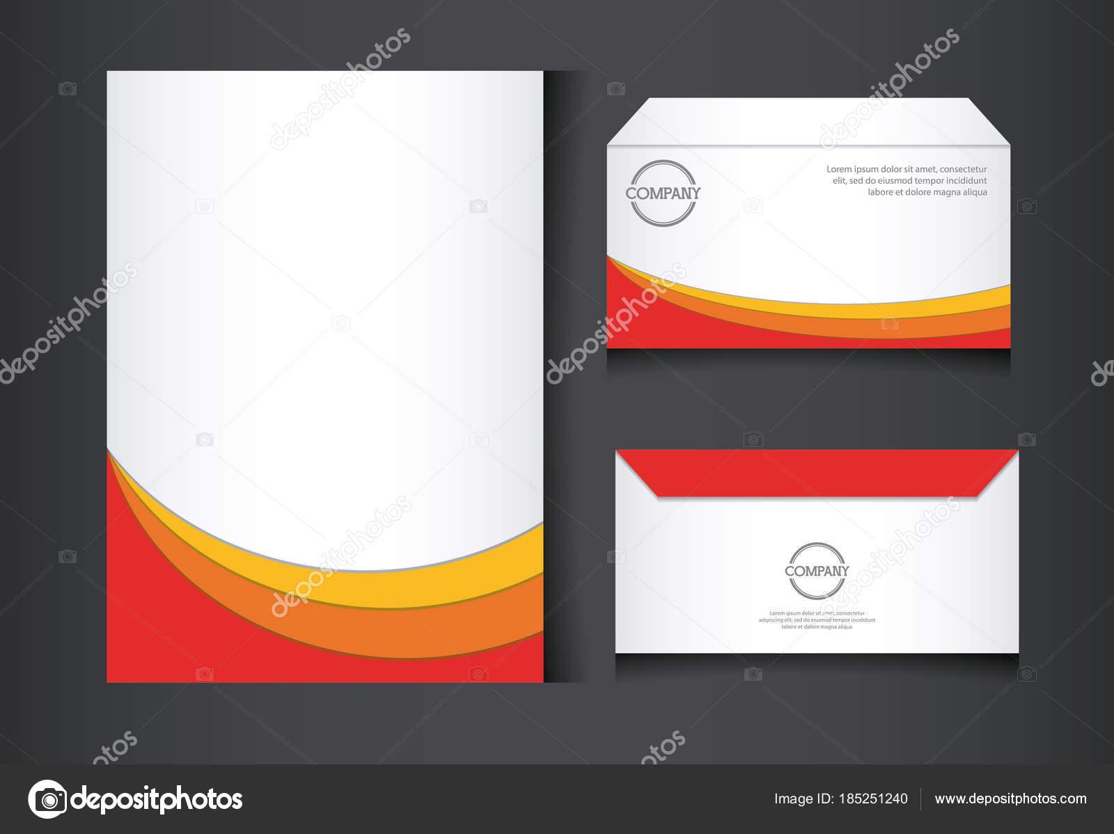 bef2c39710c Identité d entreprise la société conception vector illustration design  graphique-branding — Vecteur par djv