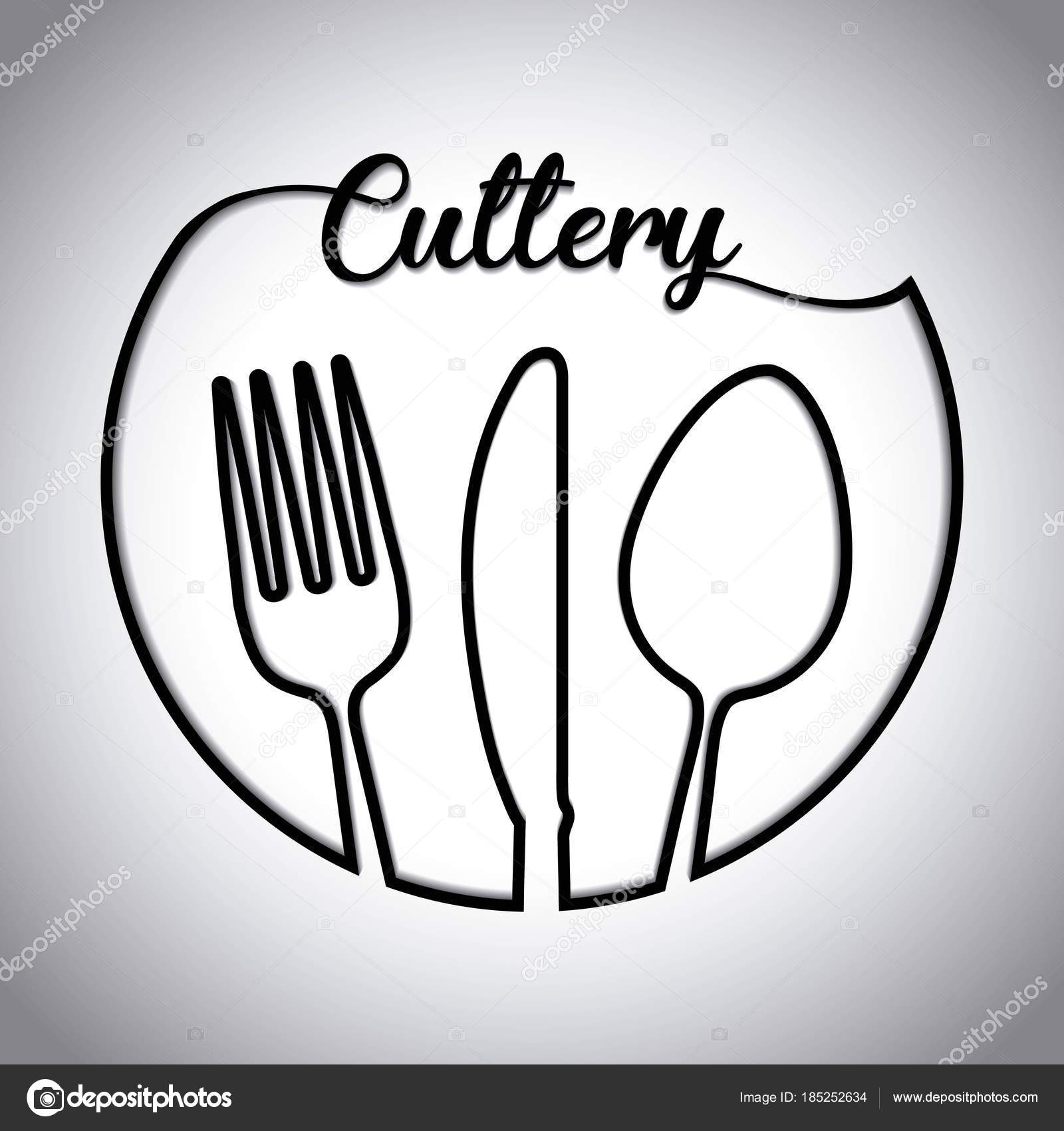 Fork Spoon Knife Cutlery Symbol Stock Vector Djv 185252634