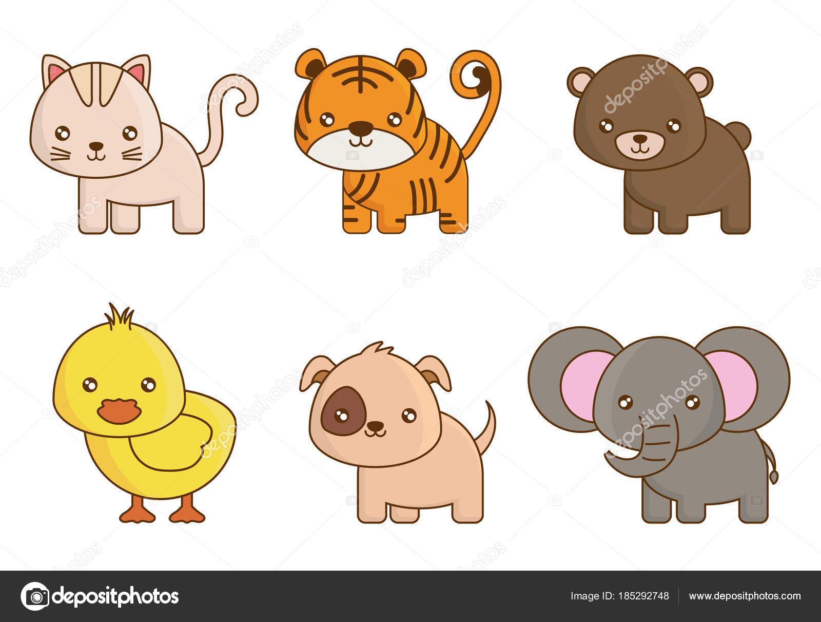 Desenho De Animais Fofos Vetores De Stock C Djv 185292748