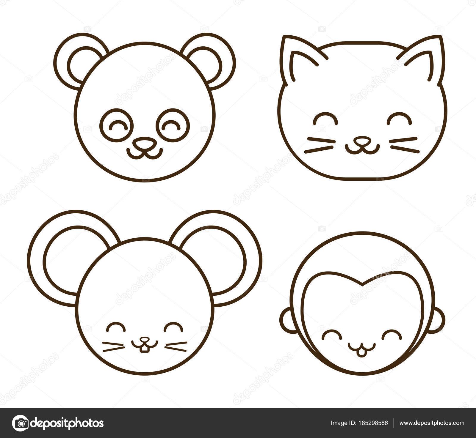 desenho de animais fofos vetor de stock djv 185298586