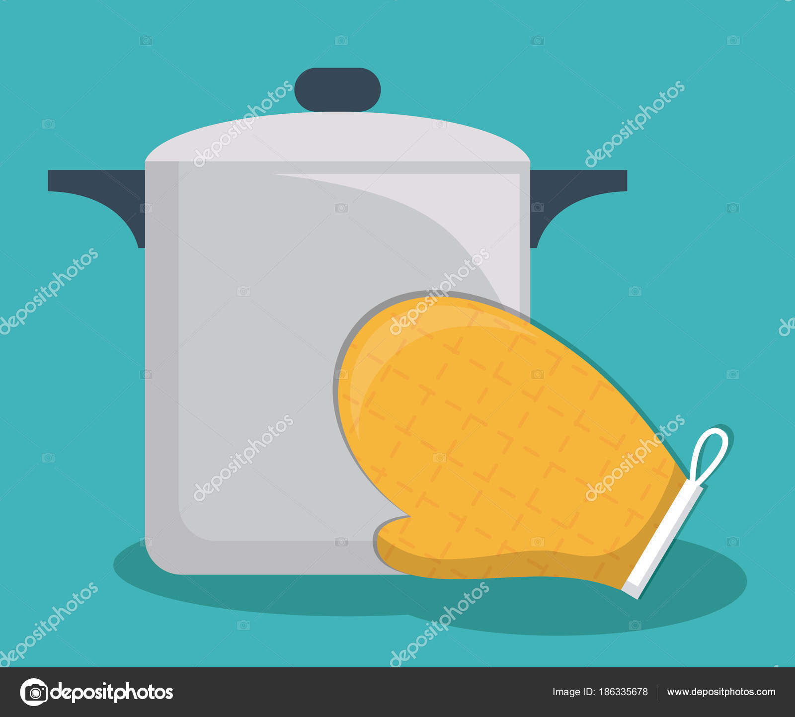 utensilios de cocina de diseño — Vector de stock © djv #186335678