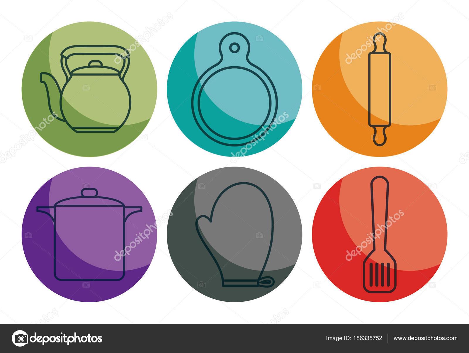 Utensili da cucina di design vettoriali stock djv for Utensili da cucina di design