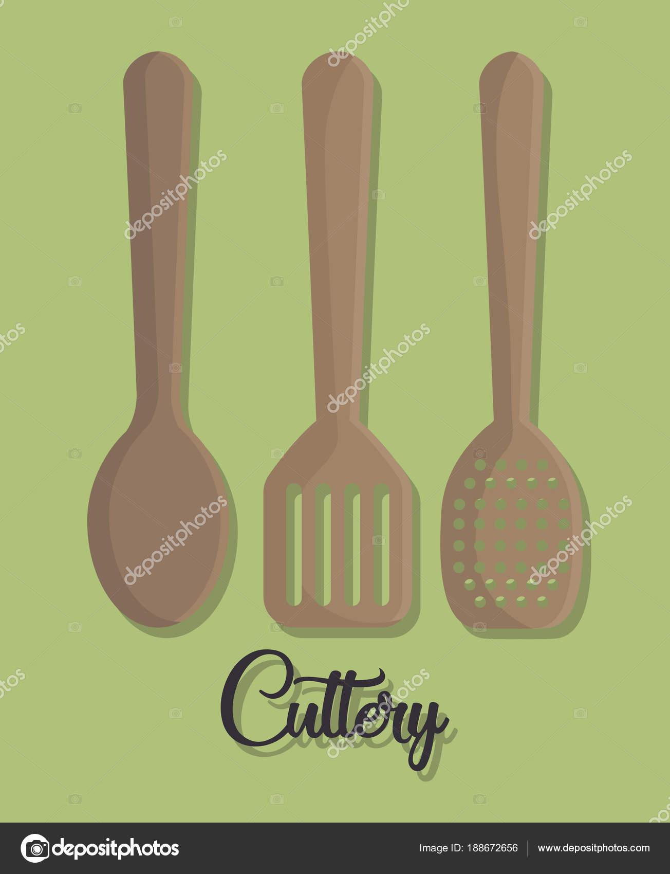 utensilios de cocina de diseño — Vector de stock © djv #188672656
