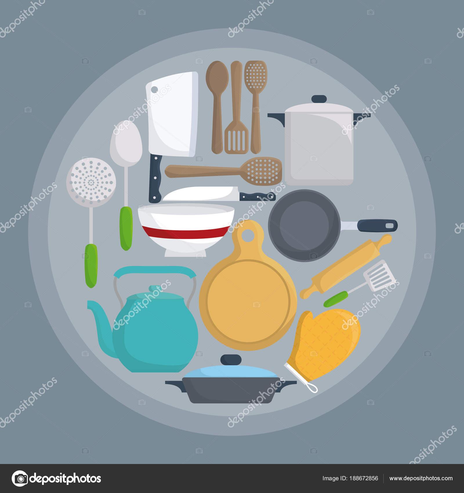 utensili da cucina di design — Vettoriali Stock © djv #188672856