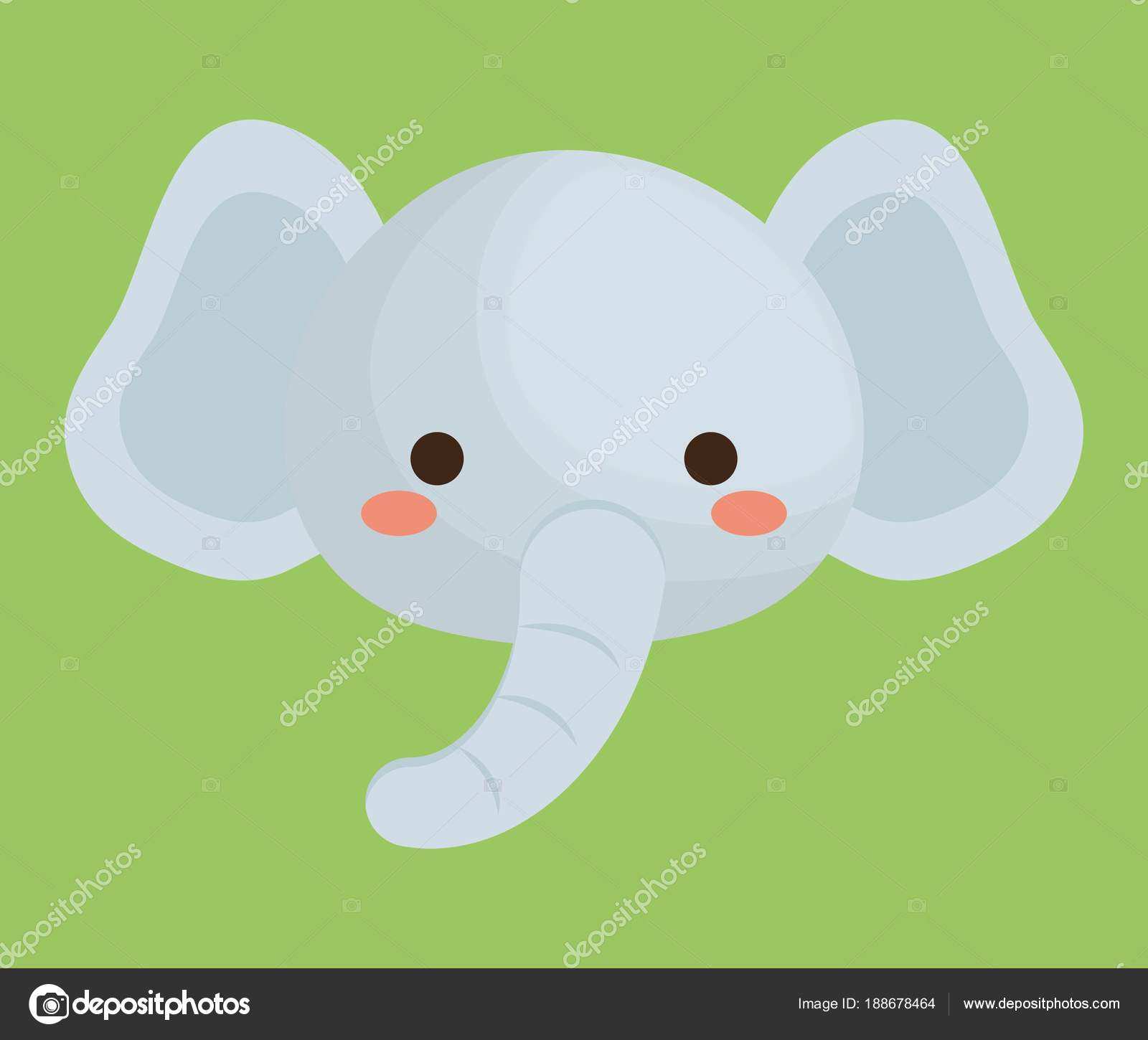 Cute Animals Design Stock Vector Djv 188678464
