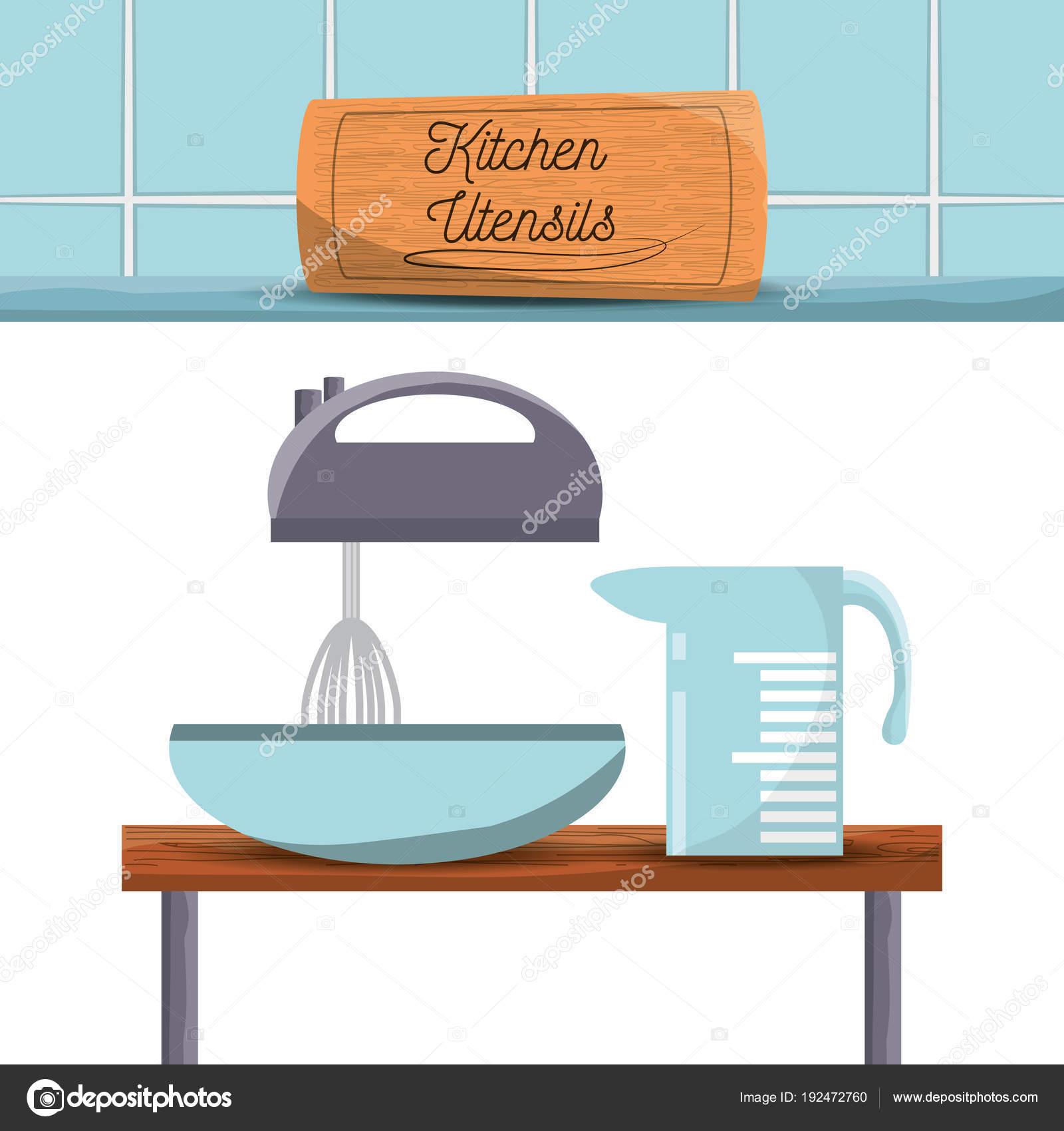 Utensilien und Werkzeuge Symbol Set flach Küche — Stockvektor © djv ...