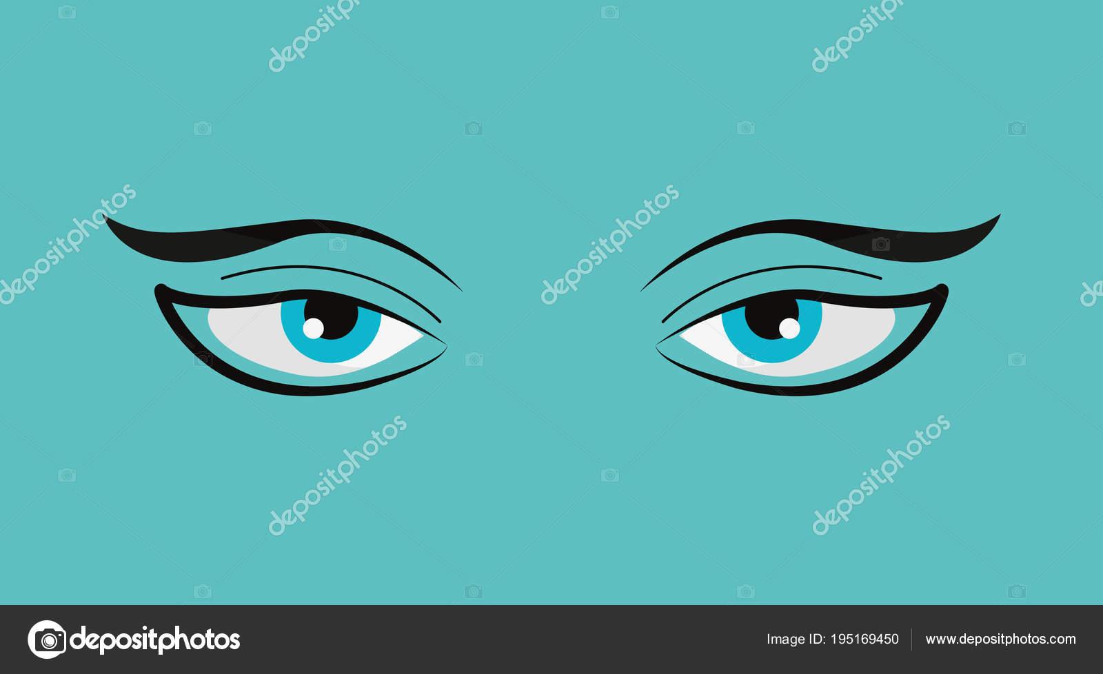 diseño de ojos perezoso — Archivo Imágenes Vectoriales © djv #195169450