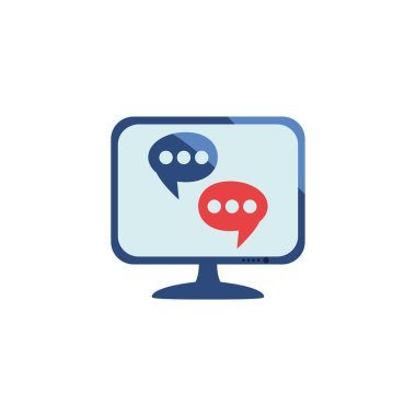 Communication bubble icon design, Message discussion conversation talk and technology Vector illustration icon