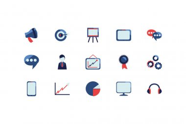 Social media and technology icon set pack, High Quality variety symbols Vector illustration icon