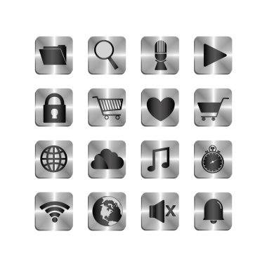 Social media icon set pack, High Quality variety symbols Vector illustration icon
