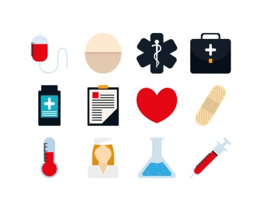 Medical icon set pack, High Quality variety symbols Vector illustration icon
