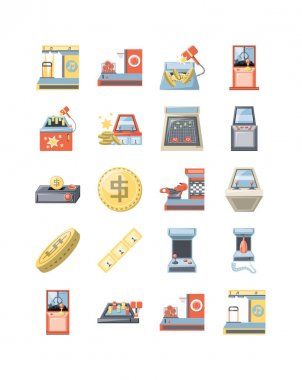 Classic game icon set pack, High Quality variety symbols Vector illustration icon