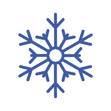 Blue snowflake of winter season vector design