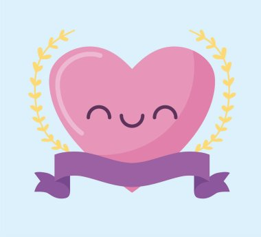 female heart cartoon vector design