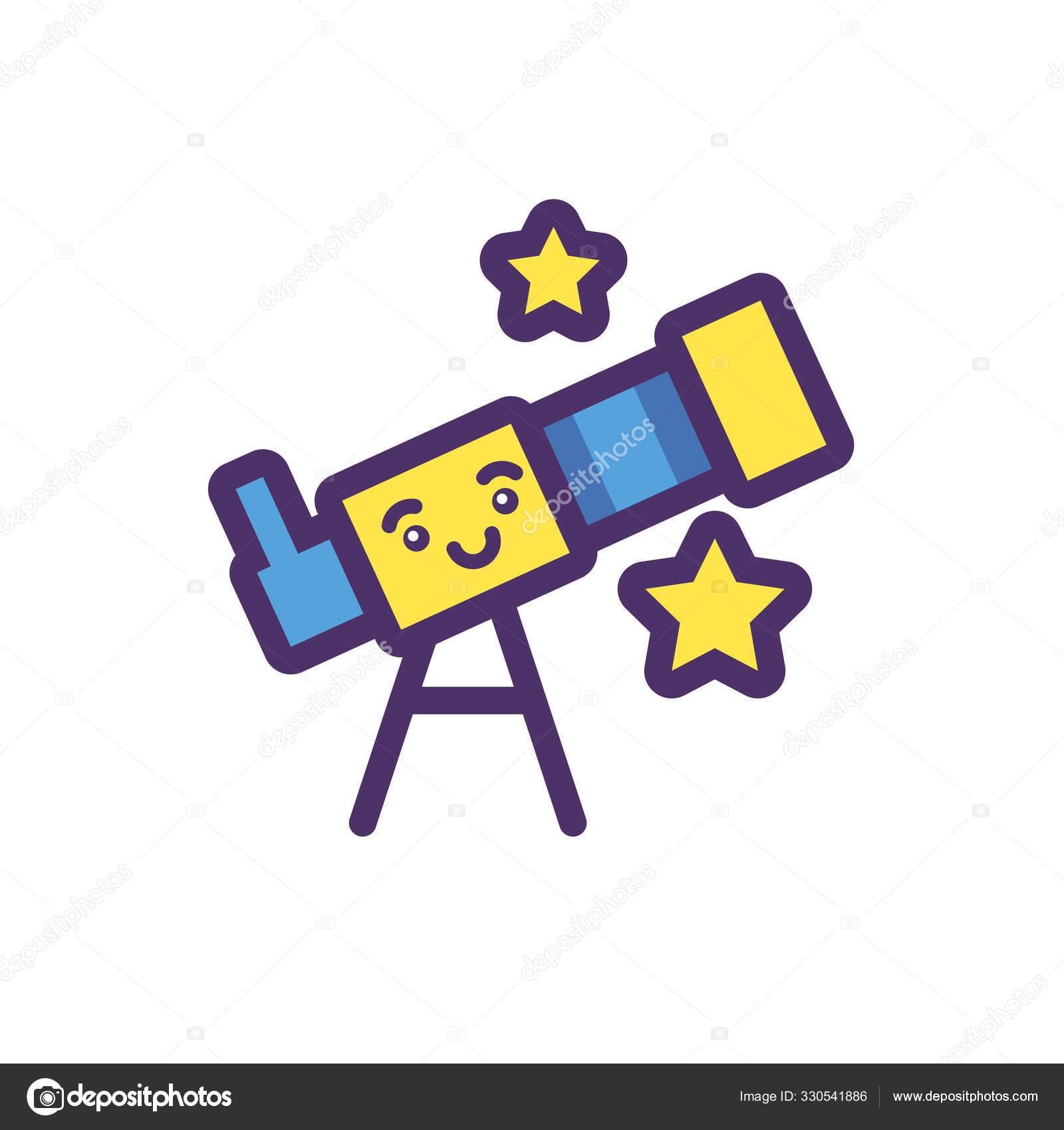 kawaii microscope cartoon vector design stock vector c djv 330541886 depositphotos