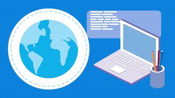 Vzdělávání Online technologie s notebookem