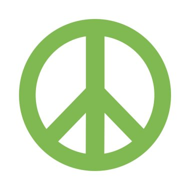 peace and love symbol flat style icon vector design
