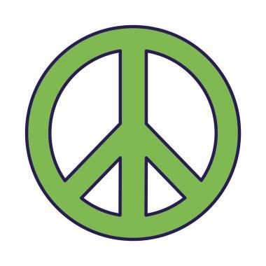 peace and love symbol fill style icon vector design